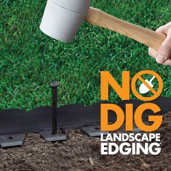 Plastic No-Dig Edging